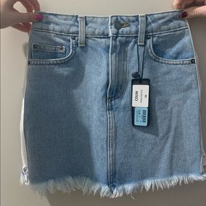 LF CARMAR denim zip skirt